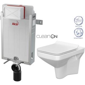 ALCAPLAST Renovmodul předstěnový instalační systém bez tlačítka + WC CERSANIT CLEANON COMO + SEDÁTKO AM115/1000 X CO1