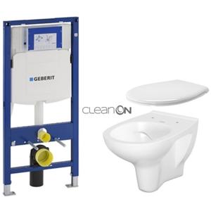 AKCE/SET/GEBERIT SET Duofix pro závěsné WC 111.300.00.5 bez ovládací desky + WC CERSANIT ARTECO CLEANON + SEDÁTKO 111.300.00.5 AT2