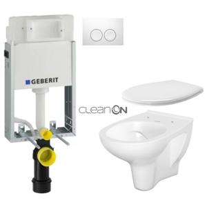 AKCE/SET/GEBERIT SET KOMBIFIXBasic včetně ovládacího tlačítka DELTA 21 Bílé pro závěsné WC CERSANIT ARTECO CLEANON + SEDÁTKO 110.100.00.1 21BI AT2