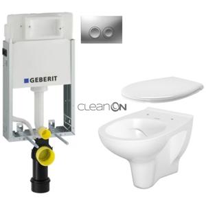 AKCE/SET/GEBERIT SET KOMBIFIXBasic včetně ovládacího tlačítka DELTA 21 MAT pro závěsné WC CERSANIT ARTECO CLEANON + SEDÁTKO 110.100.00.1 21MA AT2