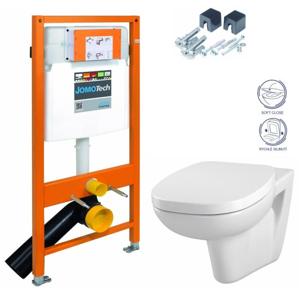 JOMO DUO modul pro závěsné WC bez desky + WC CERSANIT FACILE + SEDÁTKO DURAPLAST SOFT-CLOSE 174-91100700-00 FA2