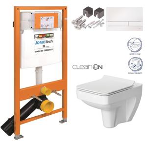 JOMO DUO modul pro závěsné WC s bílou deskou + WC CERSANIT CLEANON SPLENDOUR + SEDÁTKO 174-91100900-00 SP1