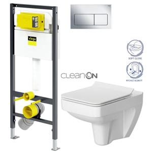 AKCE/SET/VIEGA Presvista modul DRY pro WC včetně tlačítka Life5 CHROM + WC CERSANIT CLEANON SPLENDOUR + SEDÁTKO V771973 LIFE5CR SP1