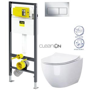 AKCE/SET/VIEGA Presvista modul DRY pro WC včetně tlačítka Life5 CHROM + WC OPOCZNO CLEANON URBAN HARMONY + SEDÁTKO V771973 LIFE5CR HA1