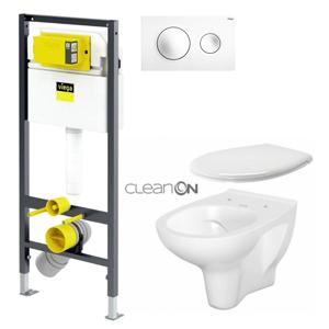 VIEGA Presvista modul DRY pro WC včetně tlačítka Style 20 bílé + WC CERSANIT ARTECO CLEANON + SEDÁTKO V771973 STYLE20BI AT2