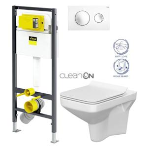 AKCE/SET/VIEGA Presvista modul DRY pro WC včetně tlačítka Style 20 bílá + WC CERSANIT CLEANON COMO + SEDÁTKO V771973 STYLE20BI CO1