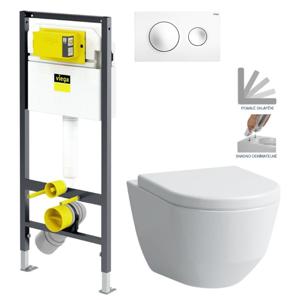 AKCE/SET/VIEGA Presvista modul DRY pro WC včetně tlačítka Style 20 bílá + WC LAUFEN PRO + SEDÁTKO V771973 STYLE20BI LP3