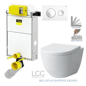 AKCE/SET/VIEGA Presvista modul PURE pro WC včetně tlačítka Style 20 bílá + WC LAUFEN PRO LCC RIMLESS + SEDÁTKO V771928 STYLE20BI LP2