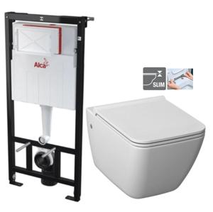 ALCAPLAST Sádromodul předstěnový instalační systém bez tlačítka + WC JIKA PURE + SEDÁTKO DURAPLAST AM101/1120 X PU1