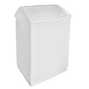 AQUALINE Odpadkový koš výklopný, 55 l, bílý plast ABS 14027
