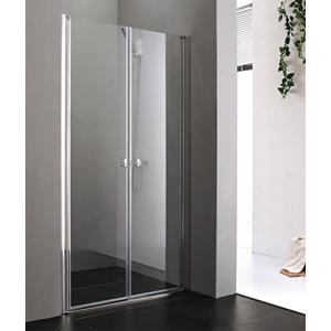 Aquatek Glass B2 80 sprchové dveře do niky dvoukřídlé 77-81cm, barva rámu bílá, výplň sklo matné GLASSB280-167