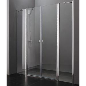 Aquatek Glass B4 115 sprchové dveře do niky dvoukřídlé s pevnou stěnou 110,5-115cm, barva rámu bílá, výplň sklo čiré GLASSB4115-166