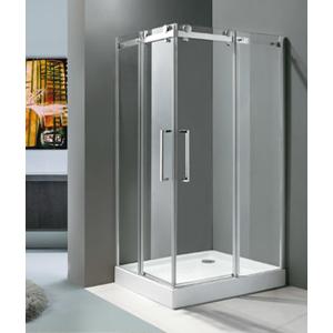 Aquatek TEKNO R14 Chrom Luxusní sprchová zástěna obdélníková 100x80cm , sklo 8mm, varianta levá TEKNOR14-13