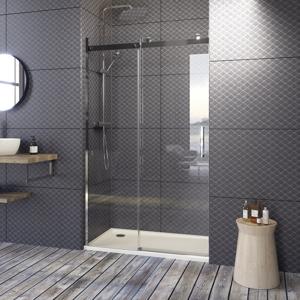 Aquatek TEKNOSOFT B2 115 Luxusní sprchové dveře zasouvací 112-116cm, sklo 8mm TEKNOSOFTB2115