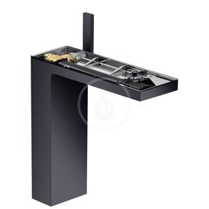 AXOR MyEdition Umyvadlová baterie s výpustí, matná černá/bez destičky 47022350