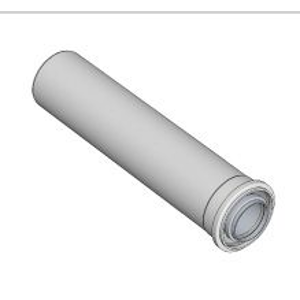 BRILON Komín Serio trubka koaxiální DN100/60 x 500 mm hliník/plast 52100002 52100002