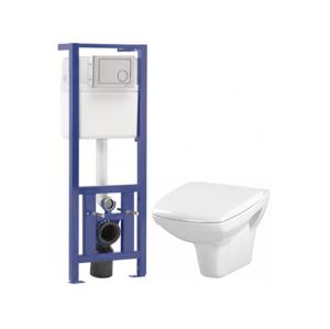 CERSANIT SET- podomítkový systém LINK+ WC mísa CARINA+duroplastové sedátko K97-286