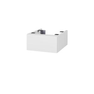 Dřevojas Doplňková skříňka pod desku DSD SZZ 40. bez výřezu (výška 20 cm) N01 Bílá lesk / D03 Cafe 222666