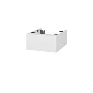 Dřevojas Doplňková skříňka pod desku DSD SZZ 40. s výřezem (výška 20 cm) N01 Bílá lesk / D14 Basalt 222925
