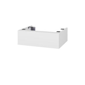 Dřevojas Doplňková skříňka pod desku DSD SZZ 60. s výřezem (výška 20 cm) N01 Bílá lesk / D08 Wenge 225230