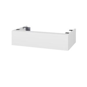 Dřevojas Doplňková skříňka pod desku DSD SZZ 80. s výřezem (výška 20 cm) N01 Bílá lesk / D08 Wenge 228354
