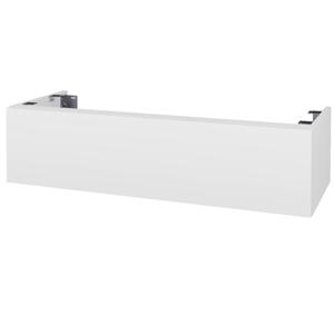Dřevojas Doplňková skříňka pod desku DSD SZZ1 120. s výřezem (výška 30 cm) N01 Bílá lesk / D06 Ořech 233020