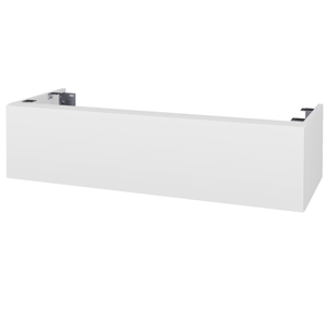 Dřevojas Doplňková skříňka pod desku DSD SZZ1 120. s výřezem (výška 30 cm) N01 Bílá lesk / N07 Stone 233150