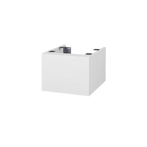 Dřevojas Doplňková skříňka pod desku DSD SZZ1 40. s výřezem (výška 30 cm) N01 Bílá lesk / N07 Stone 223793