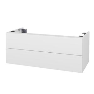 Dřevojas Doplňková skříňka pod desku DSD SZZ2 100. s výřezem (výška 40 cm) N01 Bílá lesk / D03 Cafe 231439