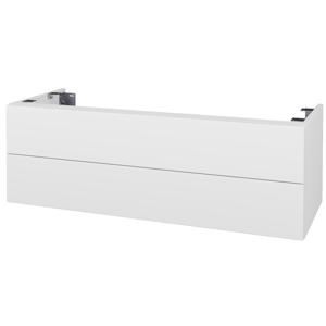 Dřevojas Doplňková skříňka pod desku DSD SZZ2 120. s výřezem (výška 40 cm) N01 Bílá lesk / D14 Basalt 233846