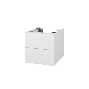 Dřevojas Doplňková skříňka pod desku DSD SZZ2 40. s výřezem (výška 40 cm) N01 Bílá lesk / D01 Beton 224363