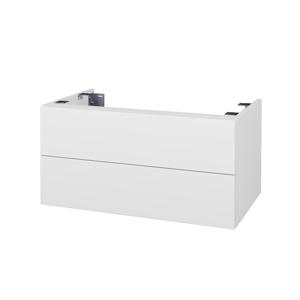Dřevojas Doplňková skříňka pod desku DSD SZZ2 80. bez výřezu (výška 40 cm) N01 Bílá lesk / D16 Beton tmavý 227234