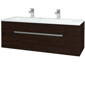 Dřevojas Koupelnová skříň ASTON SZZ 120 D08 Wenge / Úchytka T01 / D08 Wenge 131500AU