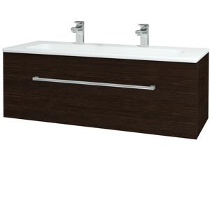 Dřevojas Koupelnová skříň ASTON SZZ 120 D08 Wenge / Úchytka T03 / D08 Wenge 131500CU