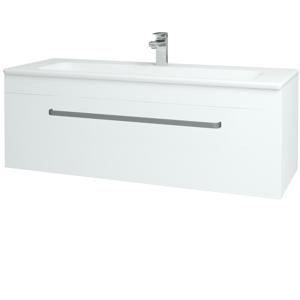 Dřevojas Koupelnová skříň ASTON SZZ 120 N01 Bílá lesk / Úchytka T01 / L01 Bílá vysoký lesk 131593A