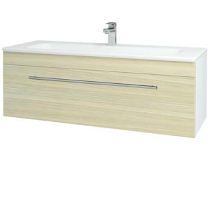 Dřevojas Koupelnová skříň ASTON SZZ 120 N01 Bílá lesk / Úchytka T02 / D04 Dub 131128B