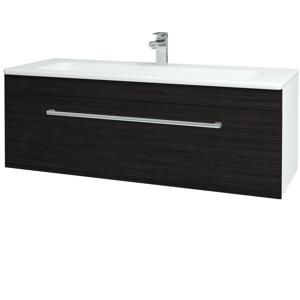 Dřevojas Koupelnová skříň ASTON SZZ 120 N01 Bílá lesk / Úchytka T03 / D14 Basalt 146825C