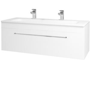 Dřevojas Koupelnová skříň ASTON SZZ 120 N01 Bílá lesk / Úchytka T04 / M01 Bílá mat 200121EU