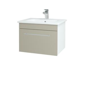 Dřevojas Koupelnová skříň ASTON SZZ 60 N01 Bílá lesk / Úchytka T02 / L04 Béžová vysoký lesk 108557B