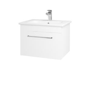 Dřevojas Koupelnová skříň ASTON SZZ 60 N01 Bílá lesk / Úchytka T04 / M01 Bílá mat 199197E