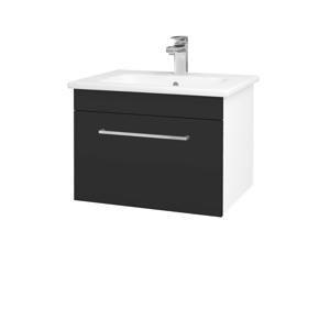 Dřevojas Koupelnová skříň ASTON SZZ 60 N01 Bílá lesk / Úchytka T04 / N03 Graphite 199210E
