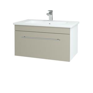 Dřevojas Koupelnová skříň ASTON SZZ 80 N01 Bílá lesk / Úchytka T02 / L04 Béžová vysoký lesk 108861B
