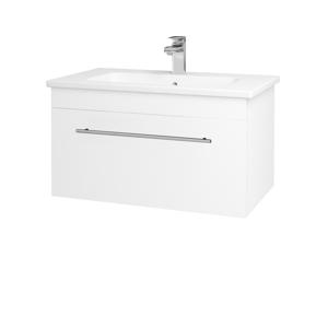 Dřevojas Koupelnová skříň ASTON SZZ 80 N01 Bílá lesk / Úchytka T02 / M01 Bílá mat 199357B