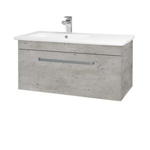 Dřevojas Koupelnová skříň ASTON SZZ 90 N01 Bílá lesk / Úchytka T02 / D14 Basalt 199722B