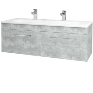 Dřevojas Koupelnová skříň ASTON SZZ2 120 D01 Beton / Úchytka T04 / D01 Beton 131517EU