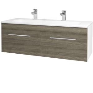Dřevojas Koupelnová skříň ASTON SZZ2 120 N01 Bílá lesk / Úchytka T04 / D03 Cafe 131180EU