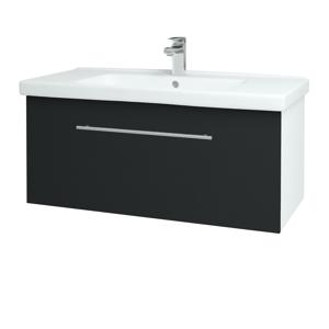 Dřevojas Koupelnová skříň BIG INN SZZ 100 N01 Bílá lesk / Úchytka T02 / L03 Antracit vysoký lesk 149703B