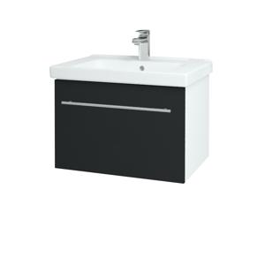Dřevojas Koupelnová skříň BIG INN SZZ 65 N01 Bílá lesk / Úchytka T02 / L03 Antracit vysoký lesk 149550B