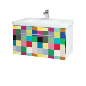 Dřevojas Koupelnová skříň BIG INN SZZ 80 N01 Bílá lesk / Úchytka T02 / IND Individual 132798B