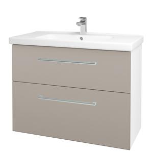Dřevojas Koupelnová skříň BIG INN SZZ2 100 N01 Bílá lesk / Úchytka T03 / N07 Stone 200824C